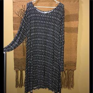 Long sleeve swing knit dress